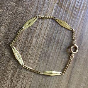14K Yellow Solid Gold Bracelet